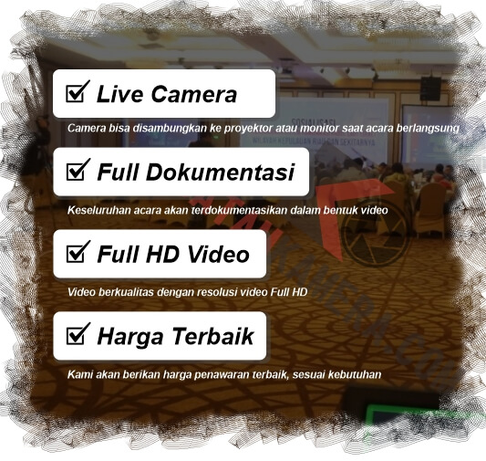 Tempat Jasa Video Event Seminar Hotel Live Video Batam