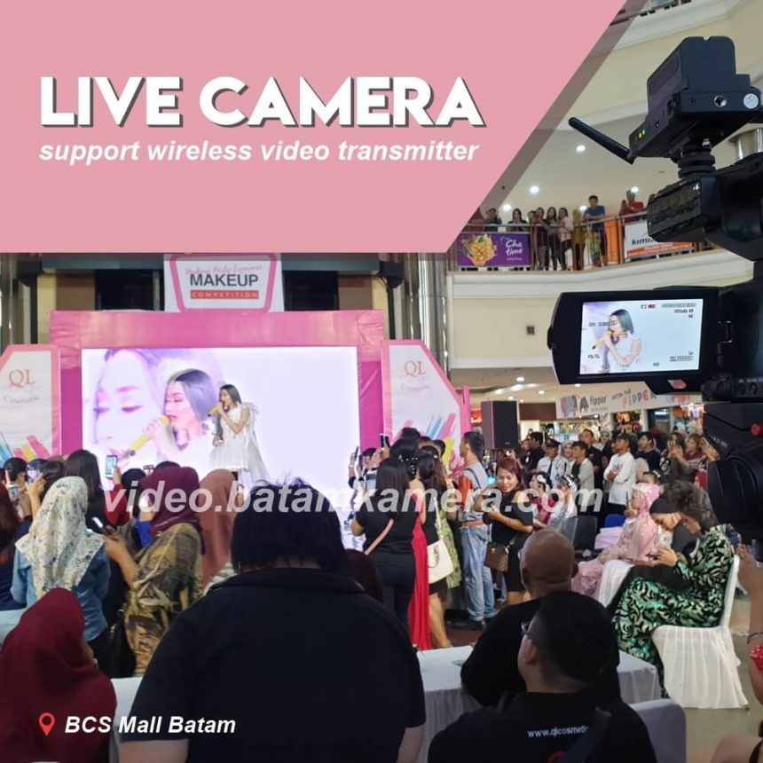 Video Live Camera Wireless Video Transmitter QL Cosmetic Batam